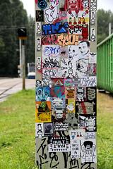 stickercombo (wojofoto) Tags: streetart amsterdam stickerart stickers hof 2012 combo stickercombo flevopark amsterdamsebrug wojofoto
