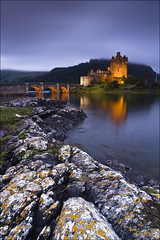 Eilean Donan Castle, Dornie, Scotland (sven483) Tags: sunset sun castle scotland highlands rocks long exposure loch eilean donan lighten duich dornie mygearandme mygearandmepremium mygearandmebronze mygearandmesilver mygearandmegold mygearandmeplatinum mygearandmediamond