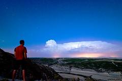 esperando la tormenta (navarrito79) Tags: sky storm night clouds stars noche nikon paisaje cielo nubes estrellas tormenta nocturna monte startrails manfrotto navarra polaris peralta estrellapolar d5100