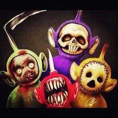 By : The Horror Nymphs / เทเลทับบี้ เป็นคาแรคเตอร์การ์ตูนที่ชอบที่สุด พอเจอรูปนี้... อืมมมม คนเรามันก็มีหลายด้าน ฮ่าๆ