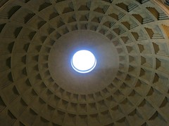 A view of Heaven from the Pantheon in Rome