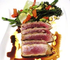 Grilled Tuna with Sauteed Vegetables Simple is oft