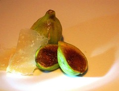 Figs and Parmesan cheese