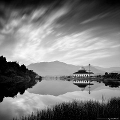 indwell (azrudin) Tags: light sky panorama cloud sun lake reflection nature water silhouette rock stone architecture sunrise square landscape photography mirror blackwhite still nikon slow jetty tokina1224 mosque squareformat malaysia slowshutter kualalumpur minimalist masjid scapes longexposures kualakububaru bw110 ampanghill vertorama sifoocom d7000 darulquran bw1000 azrudin