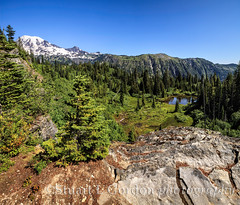 Mt. Rainier and Bench Lake (chasingthelight10) Tags: travel mountains nature photography landscapes events lakes panoramas places mountrainiernationalpark vistas washingtonstate wildernesstrails benchlake