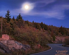 A full moon over Cadillac Mountain, Acadia National Park, Maine (PhotosToArtByMike) Tags: mountain me night landscape lowlight maine scenic fullmoon barharbor cadillacmountain acadianationalpark landscapephotograph acadiaregion cadillacsummitroad
