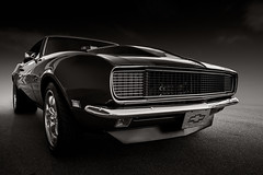 Brute force (Neil Banich Photography) Tags: bw cars chevrolet camero automobile racing grill chevy 1968 custom hotrods coolcars carart autoart 1968camero neilbanichphotograhy