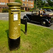 A gold postbox for Peter Charles in Alton
