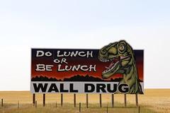 Be Lunch (the_mel) Tags: wall southdakota highway dino dinosaur billboard advertisement drug 90 i90 walldrug