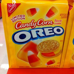 Candy corn Oreos?! Sadly tempted.
