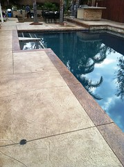 "Dark Gray pool with stamped concrete deck • <a style=""font-size:0.8em;"" href=""http://www.flickr.com/photos/71548009@N02/7983961705/"" target=""_blank"">View on Flickr</a>"