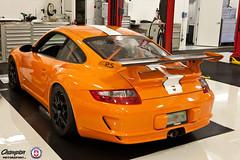 Champion Motorsport - Porsche 997 GT3RS with HRE P40S in Satin Black (HRE Wheels) Tags: orange black champion porsche satin motorsport gt3 997 hre p40 gt3rs p40s