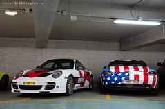 Porsche 911 (997) Turbo S & Mercedes-Benz SLS 6.3 AMG (BenjiAuto (Ratet B. Photographie)) Tags: show road plaza usa paris france slr cars sport america mercedes benz hotel us george nikon paint place flag 911 champs wrap gear roadtrip s run 63 event exotic v turbo german american porsche autos avenue luxury supercar challenge gumball exhaust sls dodgeball amg carrera lyses supercars combo montaigne 991 997 18105 55200 vendme d90 athne ratet worldcars hypercars akrapociv