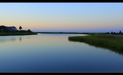 In the Evening (Liddy5) Tags: blue nature water landscape ma evening still peace marthasvineyard edgartown