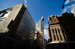 Sydney Tower (iamabcd [back to posting]) Tags: travel tower architecture sydney australia wideangle nsw newsouthwales uwa tokina1116mm nikond7000
