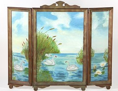 31. Hand Painted Folding Screen