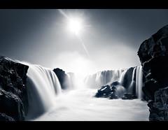 Hrafnabjargafossar (3) (oskarpall) Tags: sun water landscape waterfall iceland slow foss sland nttra vatn sl hrafnabjargafoss