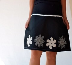 Jpp Resized (Danideng) Tags: white black french women handmade embroidery stretch cotton patchwork knee length