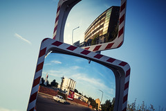 (*m22) Tags: reflections dresden mirrors explore crossprocessing favs trabant