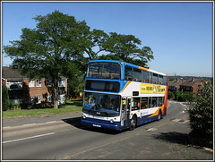 The best we can now hope for on the D2....... (Jason 87030) Tags: northampton northamptonshire july dennis northants stagecoach d2 doubledecker trident drapery 2016 daventry 18405 southbrook kx06jyg