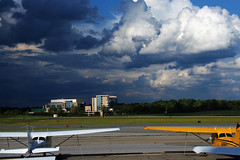 Weather Moving In (redhorse5.0) Tags: stormclouds rainclouds darkclouds airport dekalbpeachtreeairport planes aviation flying redhorse50 sonya850 generalaviation