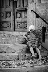 Counting days (Luisen Rodrigo) Tags: elderly poverty rodos rhodes oldtown elderlywoman