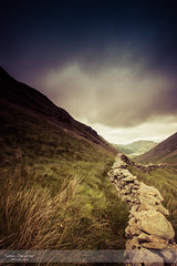 Looking back on the Lakes I (go18lf2004) Tags: lakedistrict england beauty landscapes sky mountains hills view perspetive leadlines drystonewalls countryside clouds light weather mood atmospheric wonder pointofview grasses slopes