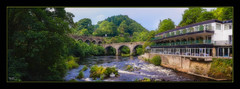 Chainbridge Hotel (Kevin From Manchester) Tags: llangollen wales river dee bridge water chainbridge architecture canon1855mm kevinwalker trees sky historic historical panorama panoramic widescreen hotel photoborder beautiful unspoilt hdr aqueduct
