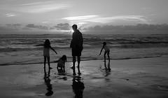 Sunset (Olivr 's pictures) Tags: olivrspictures leica leicax typ113 bw portrait sanguinet ocean soir blackandwhite beach biscarosse