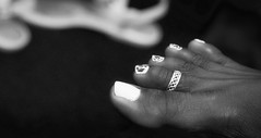 image (Photo:run) Tags: black women bw white toes sexyfeet sexytoes sexy photography portrait popular polish photo beautiful barefeet barefoot bare lady bed inside pedi hands heels pedicure depth field dof soft sole shoes summer