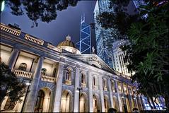 Old Supreme Court Hong Kong (Stefan Bock) Tags: hongkong china hongkongisland architecture architektur blauestunde bluehour night nacht city