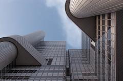 HVB Tower (zora_schaf) Tags: hvb tower gebude architecture mnchen munich zoraschaf geometrisch spiegelung reflection glasfenster fenster glas hochhaus city