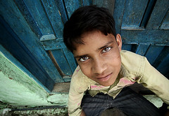 Portrait (Harshal Orawala) Tags: portrait holi mathura india eyes lights boy day 121clicks