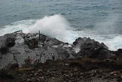 One Last View of Blowhole Spouting (mahteetagong) Tags: hawaii nikon d80 35mmf18 windward coast blowhole wave surf rock crash oahu