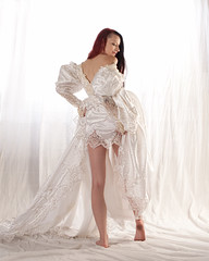 Kajira_8514 (Embodyment) Tags: female model modelmayhem dress studio kajira kajirabound striptease weddingdress