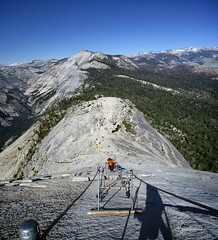Half Dome Cables (Bruce Lemons) Tags: yosemite yosemitenationalpark yosemitevalley california sierra sierranevada mountains hike backpacking hiking wilderness half dome cables