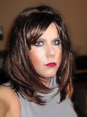 Bambi.... (Irene Nyman) Tags: closeup brunette tgirl red lips dutch crossdresser pout