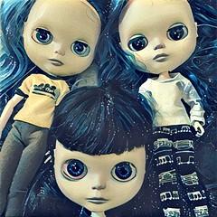 Violet, Vivien and Camille. #blythecustom #misfitgirls #egsworld #dollphotography