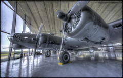 Duxford - B17 #3 (Darwinsgift) Tags: duxford air museum imperial war planes b17 flying fortress hangar hdr 14mm f28 d nikkor nikon d810 photomatix