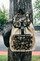 INSTAGRAM: Hirodrewsykes (HiroDrewSykes) Tags: backpack hirodrewsykes hirough nature barc tree camo camouflage