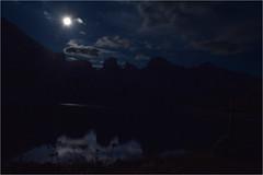 Heure bleue sur le lac d'Allos (loutraje) Tags: lune clairdelune lac allos nuit heurebleue montagne alpes
