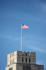 USA Flag (ccarl_03) Tags: flag outdoors sky lane stadium vt virginia tech architecture stars stripes