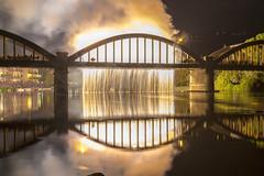 _57A5521 (danyskar) Tags: brivio lecco fuochi festa esplosione ponte fiume settembre 2016 sagra fuoco bruciare incendio fumo arancione
