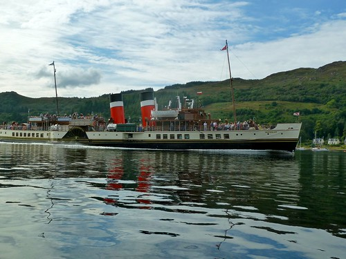 Waverley under steam in the Kyles of Bute