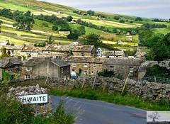 Thwaite (Rob Felton) Tags: northyorkshire yorkshiredales theyorkshiredalesnationalpark england scenic view felton robertfelton thwaite drystonewalls sign rollinghills cyyage cottages barn barns