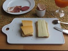 Beemster und Ziegenkse auf Toast (multipel_bleiben) Tags: essen frhstck kse