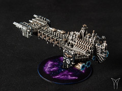 Space Marine Battle Barge (AdmGR) Tags: warhammer warhammer40k warhammer40000 wh40k wargame warhammer30k battlefleetgothic spacemarine adeptusastartes battlebarge battleship spaceship 3dprint 3dprinting model miniature painting gaming tabletop