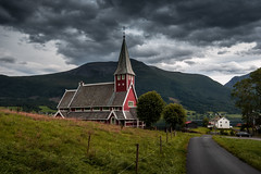Rdven (Ornaim) Tags: church landscape fjord nature sea ocean mountain grey cloud dark red building stave rodven norway norge norvege paysage romsdal vacation travel trip summer nikon d610 lee filter gnd 06 hard 1635 afs vr lightroom