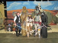 IMG_3429 (foodbyfax) Tags: cincinnaticomicexpo cosplay hansolo chewbacca boussh bobafett kyloren jawa starwars