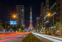 Tokyo Tower long exposure (Kostas Trovas) Tags: night asia kostasimages street mefoto streetphotography canon traffic light lights instagram ef1740f4 tripod travel tower photography 6d longexposure tokyotower roadtrip flickr tokyo japan